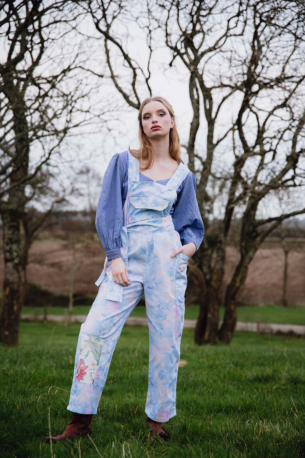 CLO Blue Floral DUNGAREES (SOLD OUT)