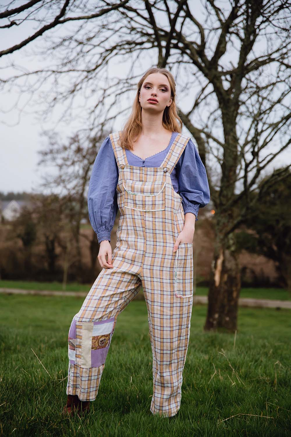 CLO MUSTARD PLAID DUNGAREES (SOLD OUT)