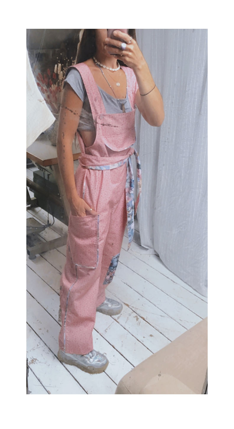 DITSY PINK CLO DUNGAREES (SOLD OUT)