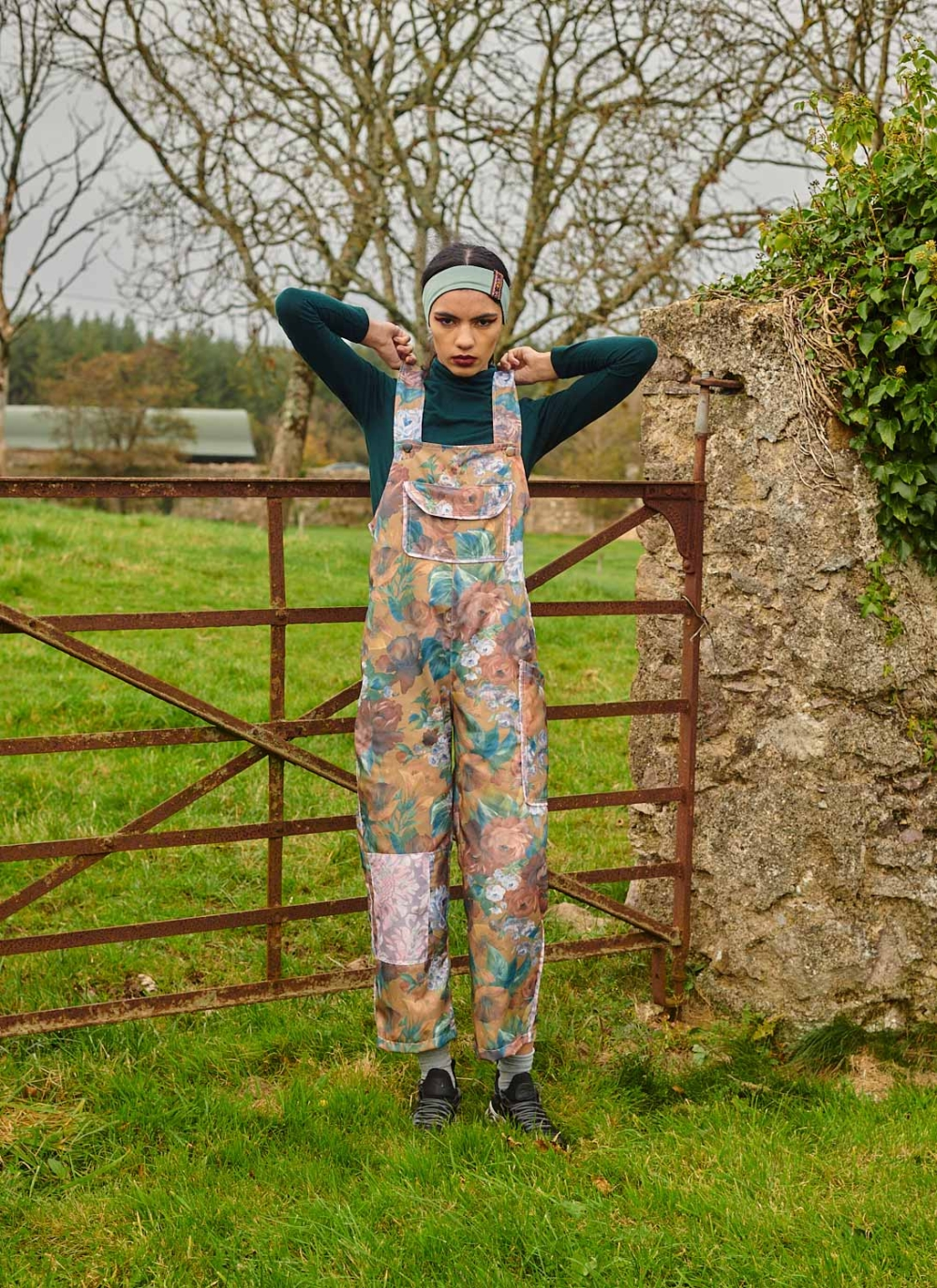 THE CLO DUNGAREES – OPULENT FLORAL