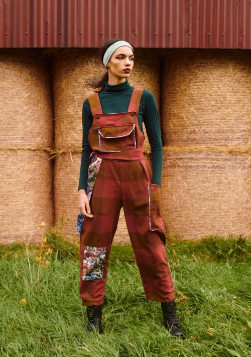 THE CLO DUNGAREES – RED CHECK (SOLD OUT)