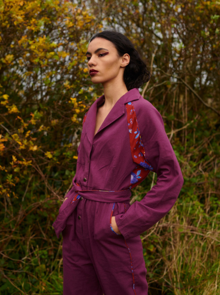 THE LAURA JUMPSUIT PLUM