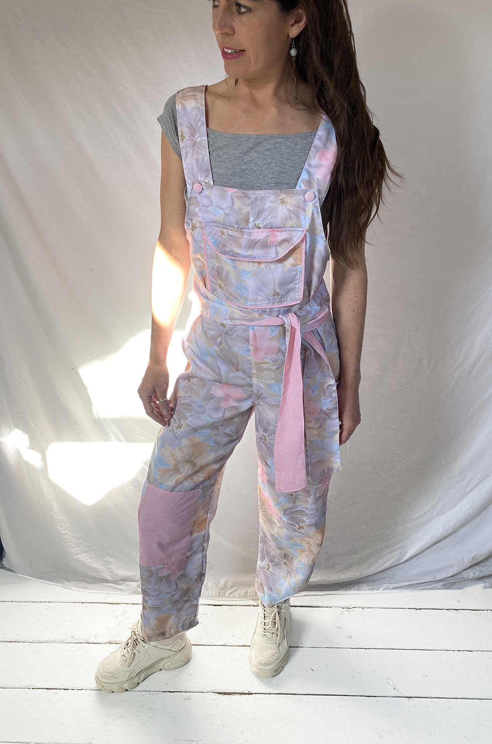 (SOLD OUT )Pastel Grey Feri Clo Dungarees